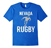 Nevada Rugby Player T-shirt Royal Blue