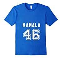 Kamala 46 - Sports Style Kamala Harris Supporter T-shirt Royal Blue