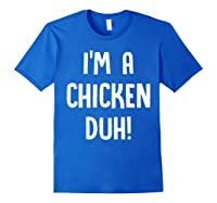 Chicken Halloween Shirt Costume Out Funny Gift Boy Girl Royal Blue