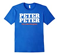 Funny Halloween For Peter Peter Couples Costume Shirts Royal Blue