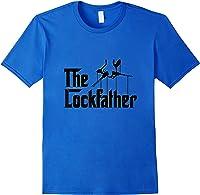Funny Locksmith - Lockfather T-shirt Royal Blue