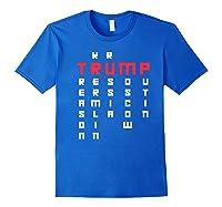 Impeach President Resist Russian Putin 2020 Anti Trump Premium T Shirt Royal Blue