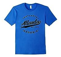 Vintage Atlanta Georgia Hotlanta Usa Love Black Shirts Royal Blue