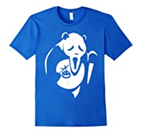 Panda Animal Halloween Diy Costume Funny Shirts Royal Blue