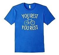 Fixie Single Speed Bicycle T Shirt Gift I Bike Fixed Gear Royal Blue