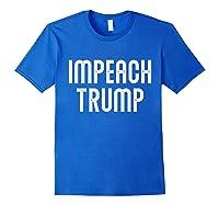 Impeach Trump Vintage T Shirt Royal Blue