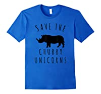 Save The Chubby Unicorns T-shirt Royal Blue
