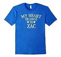 My Heart Belongs To Zac- Country Music Gift Premium T-shirt Royal Blue