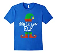 Son-in-law Elf Christmas Funny T-shirt Royal Blue