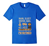 Postal Worker Retiret Gifts Funny Post Office Shirts Royal Blue