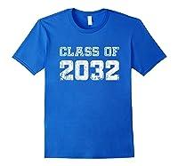 Class Of 2032 Pre K Graduate Preschool Graduation Shirts Royal Blue