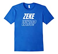 Zeke Who T-shirt Royal Blue