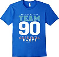90th Birthday Funny Gift Team Age 90 Years Old T-shirt Royal Blue