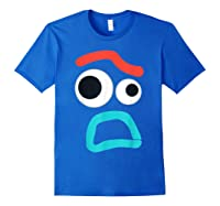 And Pixar Toy Story 4 Forky Timid Face Costume Shirts Royal Blue