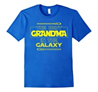 Best Grandma In The Galaxy Mother S Day T Shirt Star Grandma Royal Blue