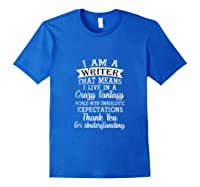 I M A Writer Gift For Authors Novelists Literature Funny Tank Top Shirts Royal Blue