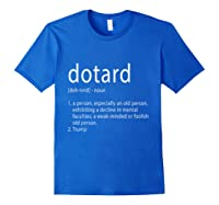 Funny Anti Trump T Shirt Hate Resist Donald Democrat Impeach Royal Blue