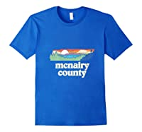 Mcnairy County Tennessee Outdoors Retro Nature Graphic T Shirt Royal Blue