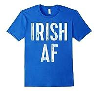 Irish Af T Shirt Vintage Saint Patrick Day Gift Shirt Royal Blue