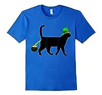 Cat Leprechaun Shirt Funny Cat Saint Patrick S Day Shirt Royal Blue