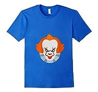 Scary Clown Halloween Gift T-shirt Royal Blue