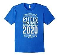 Resist Russian Putin Impeach President Putin Trump 2020 Premium T Shirt Royal Blue