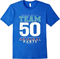 50th Birthday Funny Gift Team Age 50 Years Old T-shirt Royal Blue