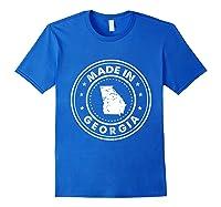 Made In Georgia Vintage State Pride Usa Shirts Royal Blue