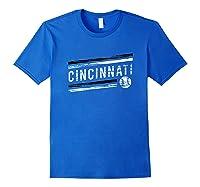 Retro Cincinnati Fan Souvenir Shirts Royal Blue