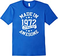 Made In 1972 49 Years Old Bday 49th Birthday Gift T-shirt Royal Blue
