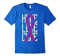 Breast Cancer Awareness Month T Shirt I Pink Ribbon Gift Royal Blue