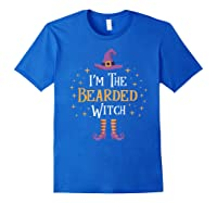 I'm The Bearded Witch Matching Family Trick Treat Shirts Royal Blue