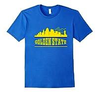 Golden State Distressed Basketball Team Fan Warrior Shirts Royal Blue