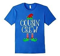 Cousin Crew Elf Gift Family Matching Christmas Ugly Shirts Royal Blue