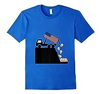 Impeach Trump Funny Political T Shirt Royal Blue