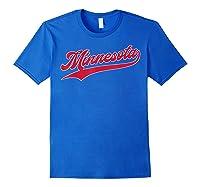 Minnesota Baseball Vintage Minneapolis Baseball Retro Gift Shirts Royal Blue