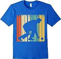 Vintage Style Lawn Bowling Silhouette T-shirt Royal Blue