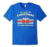 Resist And Impeach President For Christmas 2020 Anti Trump Premium T Shirt Royal Blue
