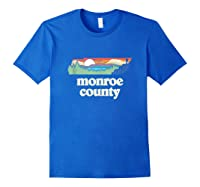 Monroe County Tennessee Outdoors Retro Nature Graphic Tank Top Shirts Royal Blue