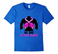 Husband Of A Warrior Breast Cancer Awareness Month Gift Tank Top Shirts Royal Blue