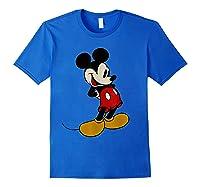 Disney Mickey Mouse Smile T Shirt Royal Blue
