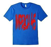 Anti Trump Impeach 45 T Shirt Royal Blue