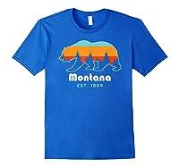 Montana 1889 Wilderness Mountain Wildlife Bear Tshirt Royal Blue