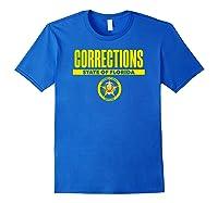 Florida Correctional Officer Thin Gray Line Flag Shirts Royal Blue