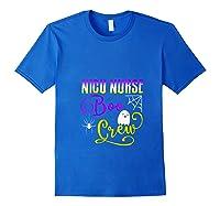 Nicu Nurse Boo Crew Halloween Ghost Spider Rn Group T-shirt Royal Blue