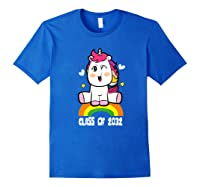 Unicorn First Day Of School Class Of 2032 Grow With Me Premium T-shirt Royal Blue
