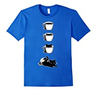 Cat In The Cup Funny Cat Lover Gifts Shirts Royal Blue