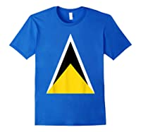 Saint Lucia Independence Day Flag Caribbean Carnival Tshirt Royal Blue