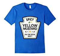 Mustard Condits Group Halloween Costumes T-shirt T-shirt Royal Blue
