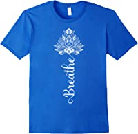 Breathe Mandala Lotus Meditation Yoga T-shirt Om Breathing T-shirt Royal Blue